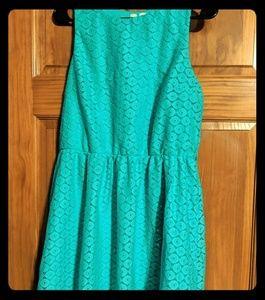 Tacera Dress Womens Large Light Blue-Green